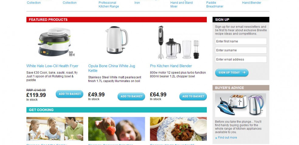 breville homepage
